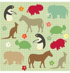abstract natural animal vector image vector image