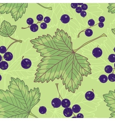 Black currants seamless pattern vector image vector image