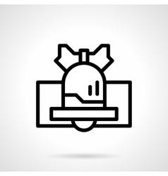 Black line handbell icon vector image vector image