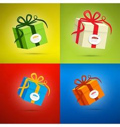 Colorful Present Box Gift Box Set vector image