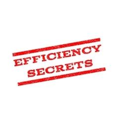 Efficiency secrets watermark stamp vector