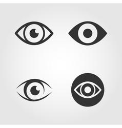 Eye icons set flat design vector image vector image
