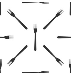 fork icon seamless pattern on white background vector image