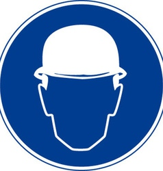 Hard Hats Must Be Worn Safety Sign vector image vector image