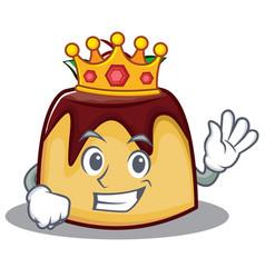 King pudding character cartoon style vector