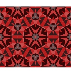 Multicolor geometric pattern in rich red vector image vector image