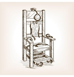 Electric chair sketch style vector image