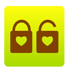 lock sign with heart shape a simple silhouette of vector image