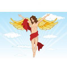 male angel illustration vector image