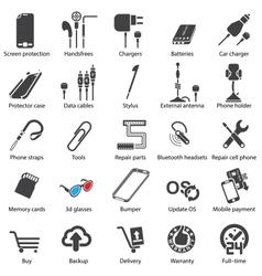 Mobile servise web vector