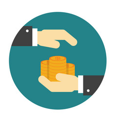 money protection flat icon vector image