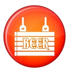 Street signboard of beer icon flat style vector image vector image