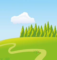 The sunny meadow vector image vector image
