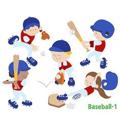 baseball 1 vector image