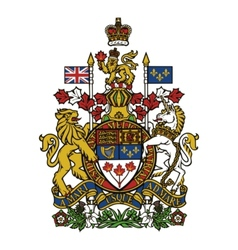 coat of arms of Canada vector image vector image