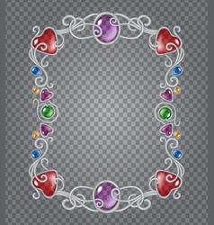 gemstones frame vector image