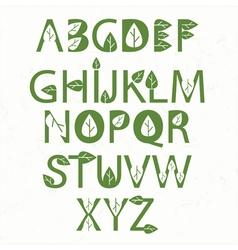 green eco alphabet vector image vector image