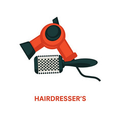 hairdresser equipment beauty salon hair vector image