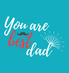 happy fathers day banner and giftcard vector image vector image