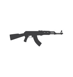 russian assault rifle icon vector image