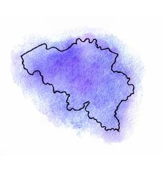 Belgium watercolor map vector image vector image