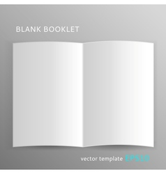 Blank booklet vector image