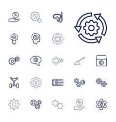 22 gear icons vector