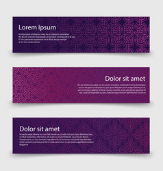 abstract banners template with decorative celtic vector image