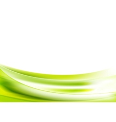 Abstract bright green wavy background vector