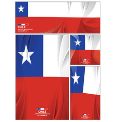 abstract chile flag background vector image