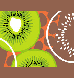 Abstract fruit design kiwi fruit vector