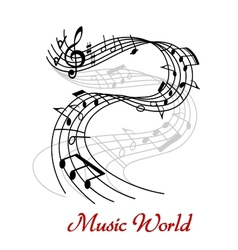 Abstract music wave design vector image