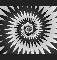 Abstract spiral background in black and white vector
