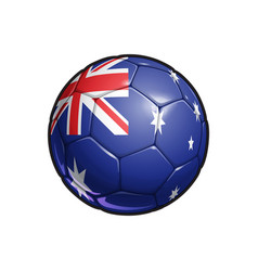 australian flag football - soccer ball vector image