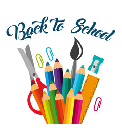 back to school image vector image
