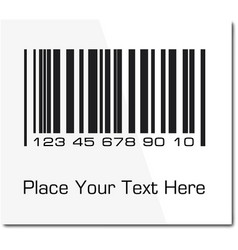 bar code label with shadow ilustration vector image