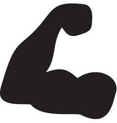 biceps arm showing muscles and power vector image