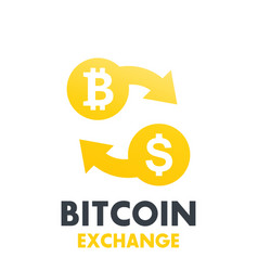 bitcoin to dollar exchange symbol vector image