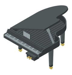black grand piano icon isometric style vector image