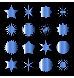 blue stars vector image