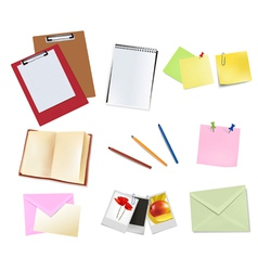 book and office supplies vector image