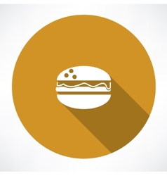 Burger icon vector image