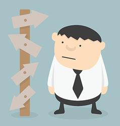 Businessman choice eps 10 vector