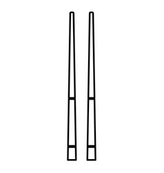 chinese chopsticks icon black color flat style vector image