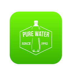 clean pure water icon green vector image