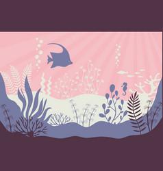 coral reef marine underwater life vector image
