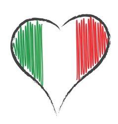 Cuore italia vector