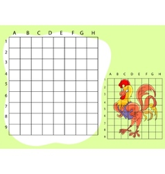Draw on the squares A cute cartoone vector image