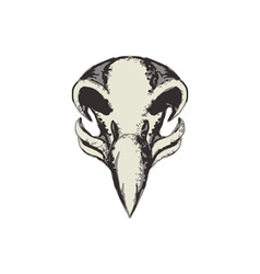 Eagle Skull Retro vector