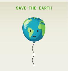 earth balloon vector image